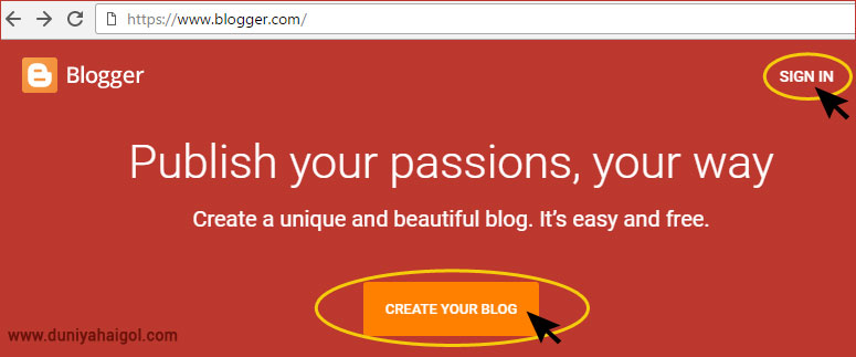 Blogger Me Sign in Kare