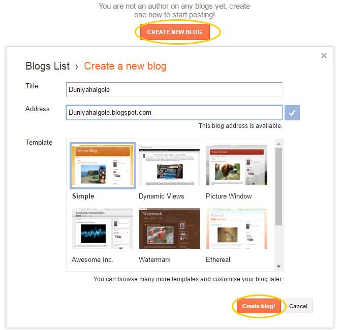 Blogger Per Blog Bnana