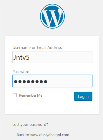 WordPress Admin Me Login