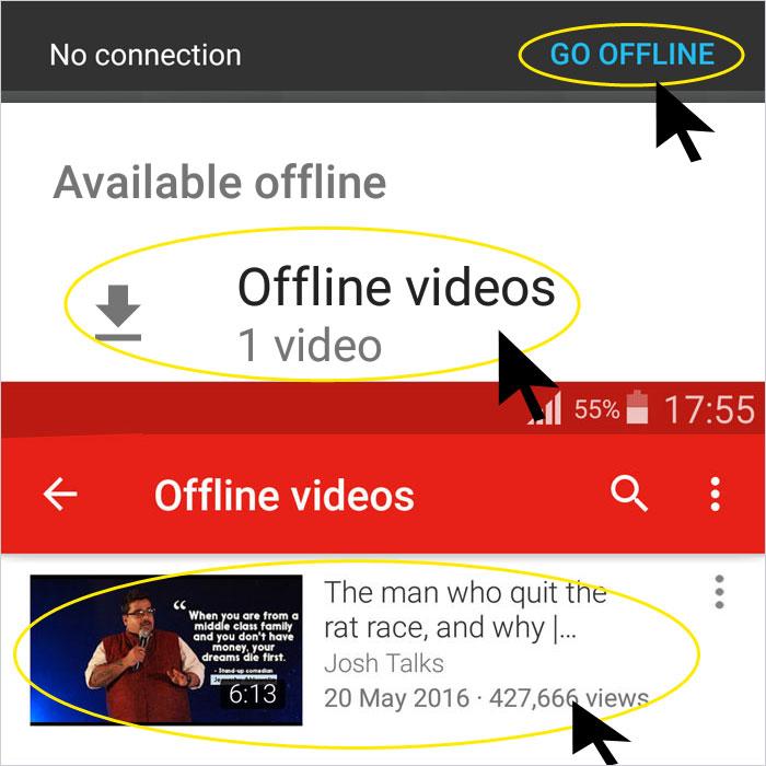 Youtube Pr Bina Internet Video Chalane Ka Tarika Step 5