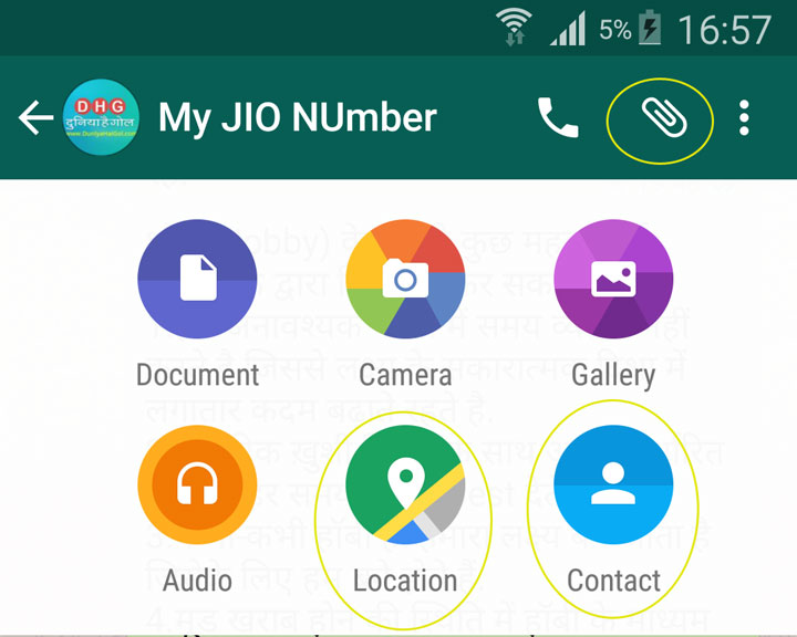 How to Share Contact and Location on WhatsApp