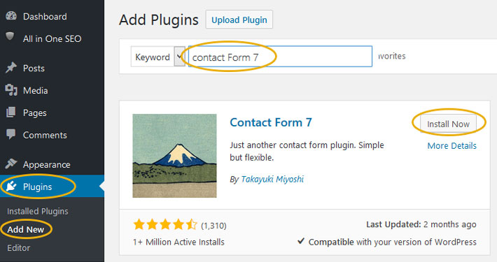 How to Add Simple Contact Form in WordPress Theme Step 1