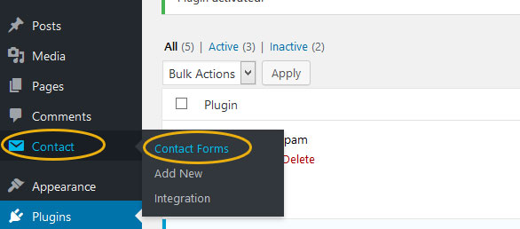 How to Add Simple Contact Form in WordPress Theme Step 3