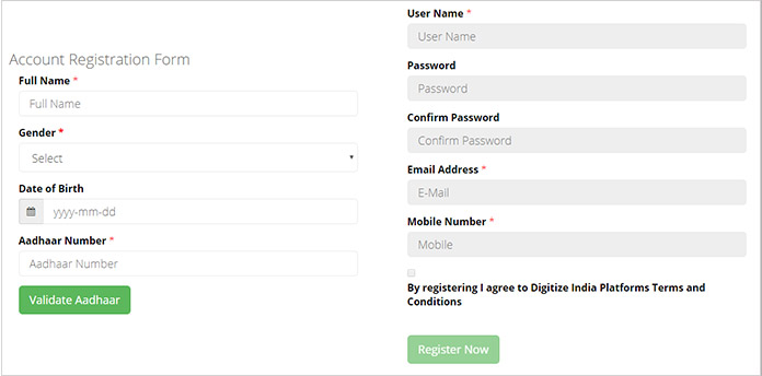 Data Entry Jobs Online Registration Form