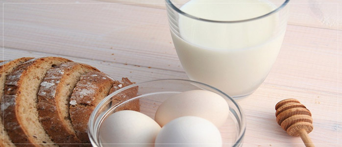 Egg and Milk Healthy Diet to Prevent Hair Fall