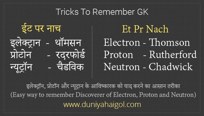 Tricks to Remember GK