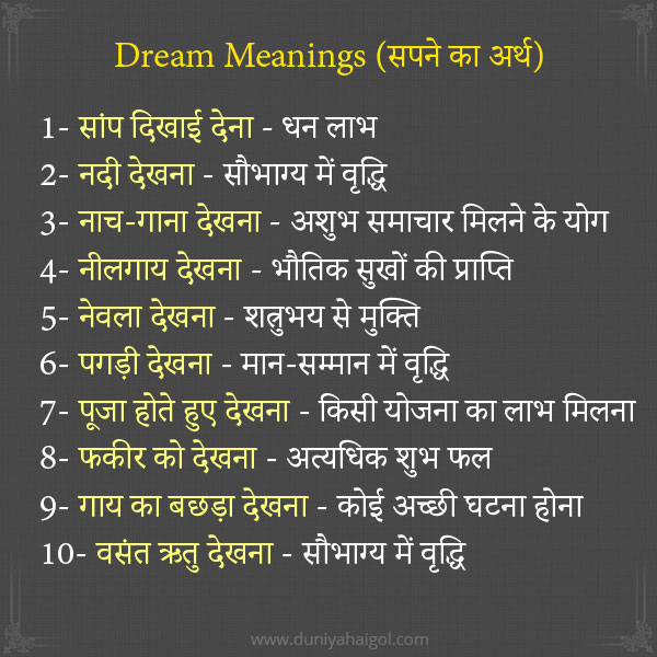 Dreams Meaning