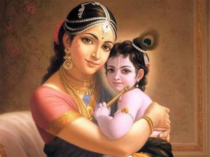 Maa Yashoda with Little Lord Krishna