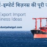 Best Export Import Business Ideas in Hindi