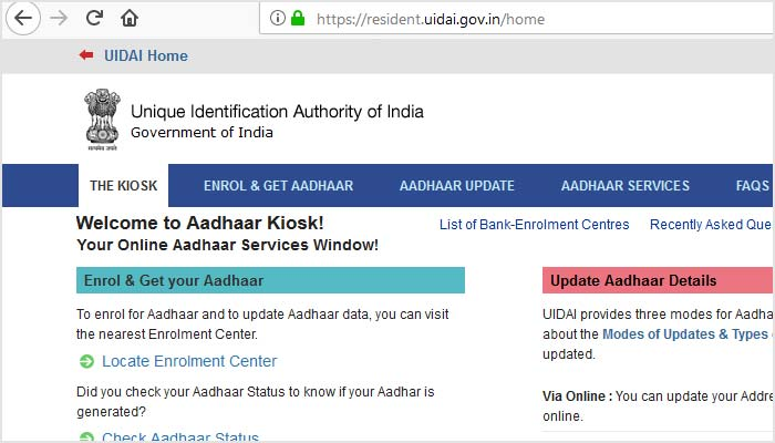 Know All Details of Aadhaar Card Official Website