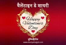 Shayari on Valentine Day in Hindi