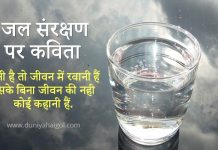 Save Water Poem in Hindi