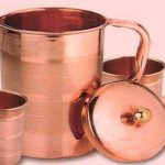 Copper Jug and Glass
