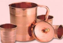 Copper Jug and Glass