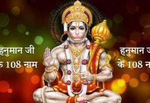 108 Names of Hanuman in Hindi