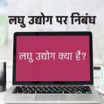 Laghu Udyog Essay in Hindi