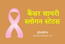 Cancer Shayari Slogan Status Quotes