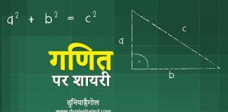 Maths Shayari