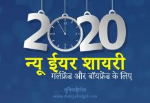 New Year 2020 Shayari for Girlfriend Boyfriend Hindi