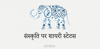 Shayari on Culture in Hindi