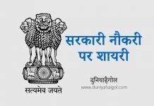 Sarkari Naukri Par Shayari