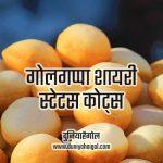 Pani Puri Golgappa Shayari Status Quotes in Hindi