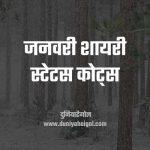 January Shayari Status Quotes Hindi