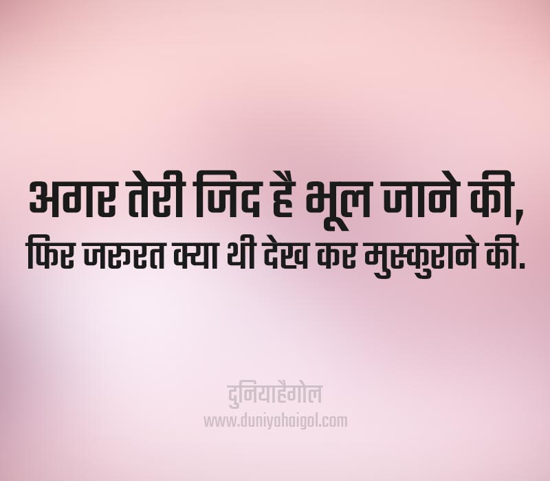 Zid Quotes in Hindi