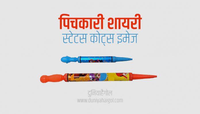 Pichkari Shayari Status Quotes in Hindi