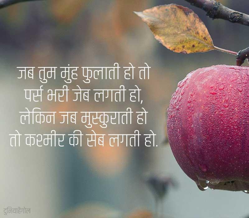 Apple Shayari in Hindi