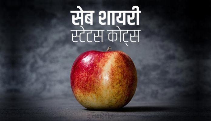Apple Shayari Status Quotes in Hindi