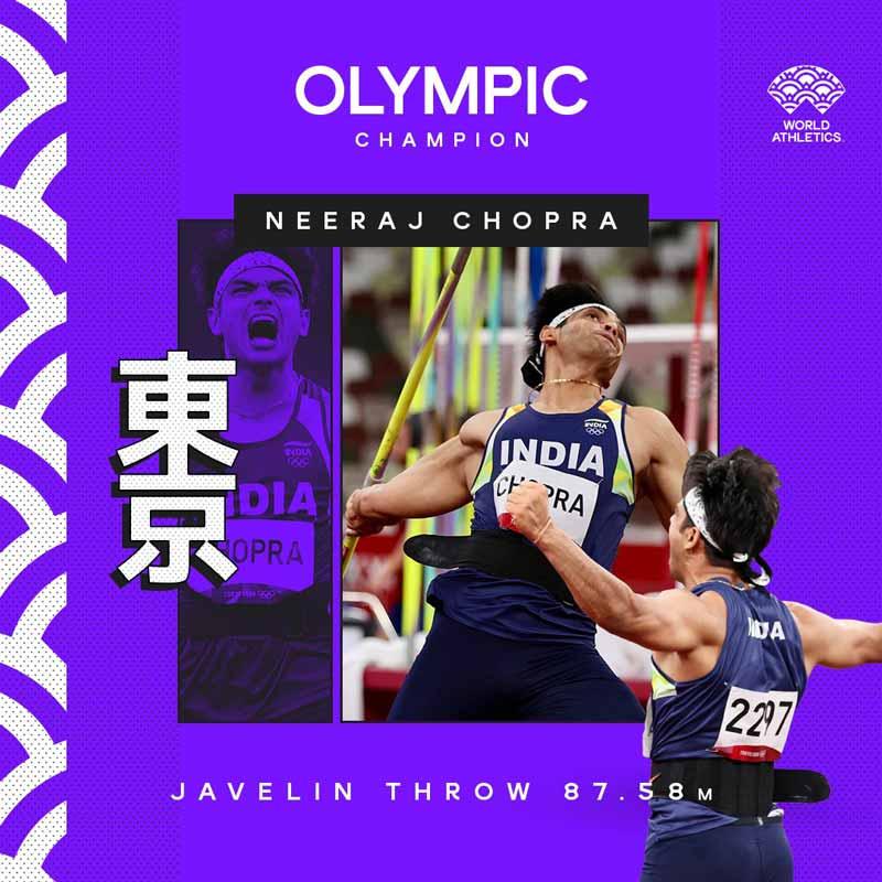 Olympic Champion Neeraj Chopra Image